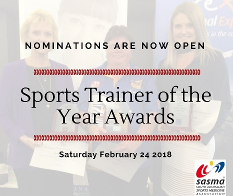 Sports Trainer of the Year Awards - Nominations Now Open